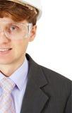 Primer sonriente del ingeniero de seguridad imagen de archivo libre de regalías