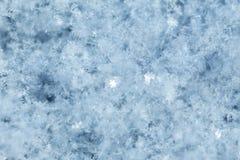 Primer superficial de la nieve Fotos de archivo