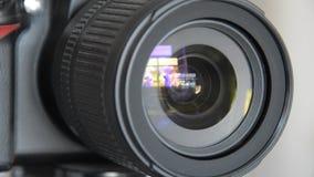 Primer tirado de cámara de vídeo profesional almacen de video