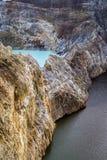 Primer tirado de los lagos del cráter de Kelimutu Foto de archivo