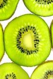 Primer transparente del kiwi Foto de archivo libre de regalías