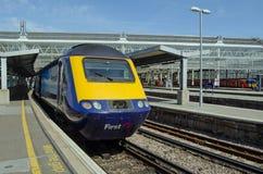 Primer tren de Great Western en la estación de Waterloo, Londres Imagen de archivo libre de regalías