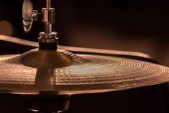 Primer Una placa de metal de un sistema del tambor fotografía de archivo libre de regalías