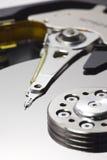 Primer vertical macro del almacenaje del mecanismo impulsor de disco duro Fotografía de archivo libre de regalías