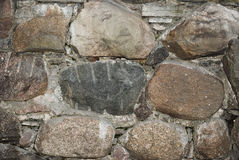 Primer viejo de la pared de piedra Fotografía de archivo