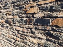Primer viejo de la textura de las piedras Fotografía de archivo libre de regalías