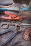Primer viejo de las herramientas - colección de la herramienta del vintage Fotos de archivo