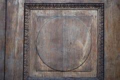 Primer viejo tallado de la puerta, fondo Fotografía de archivo libre de regalías