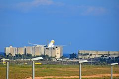 Primera航空公司阿利坎特机场西班牙 免版税图库摄影
