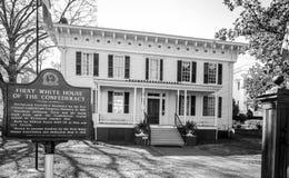 Primera Casa Blanca del Confederacy Fotografía de archivo libre de regalías