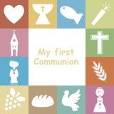 Primera comunión Imagen de archivo libre de regalías