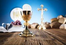 Primera comunión santa Imagen de archivo libre de regalías