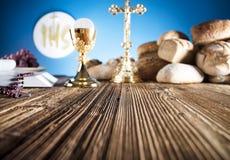 Primera comunión santa Fotos de archivo libres de regalías
