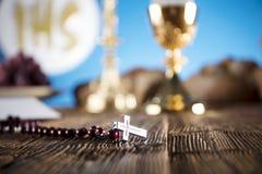 Primera comunión santa Foto de archivo libre de regalías
