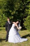 Primera danza del vife y del marido Imagen de archivo libre de regalías