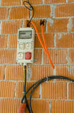 Primera electricidad en casa Fotografía de archivo libre de regalías