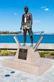 Primera en tierra estatua de John Seward Johnson en Coronado, California Foto de archivo libre de regalías