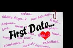Primera fecha - relaciones. Foto de archivo libre de regalías