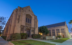 Primera iglesia metodista unida en Pasadena Foto de archivo libre de regalías