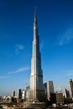Primera jornada de Burj Khalifa Foto de archivo libre de regalías
