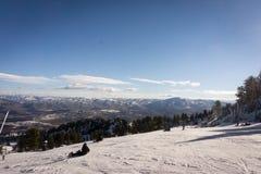 Primera jornada en Snowbasin Foto de archivo libre de regalías