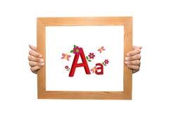 Primera letra del alfabeto A y a Imagenes de archivo