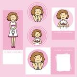 Primera muchacha de la comunión stock de ilustración