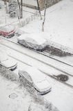 Primera nieve del año Imagen de archivo libre de regalías