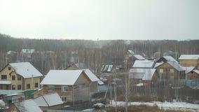 Primera nieve en el campo almacen de video