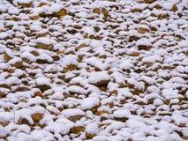 Primera nieve Fondo Imagen de archivo