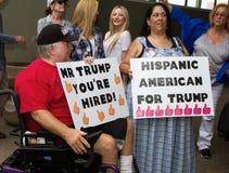 Primera reunión de la campaña presidencial de Donald Trump en Phoenix fotografía de archivo