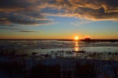 Primera salida del sol Imagen de archivo