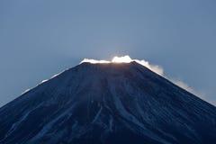 Primera salida del sol de Japón del año 2016 Foto de archivo libre de regalías