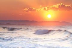 Primera salida del sol del año 2014 Imagen de archivo