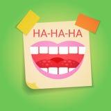 Primera tarjeta de felicitación sonriente de April Fool Day Happy Holiday de la cara stock de ilustración