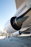 Primera vez A380 en Praga Fotos de archivo libres de regalías
