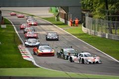 Primera vuelta abierta de la raza de GT en Monza 2015 Foto de archivo libre de regalías