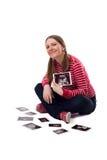 Primeras fotos del bebé. Foto de archivo libre de regalías