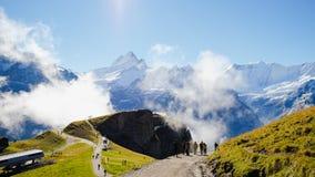Primeras montañas Suiza Foto de archivo