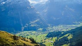 Primeras montañas Suiza Fotografía de archivo