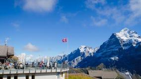 Primeras montañas Suiza Foto de archivo libre de regalías