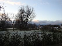 Primeras nevadas Ontario Canadá Imagen de archivo libre de regalías