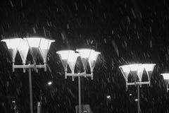 Primeras nevadas pesadas en Nizhny Novgorod foto de archivo