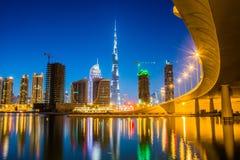 Primeras visiónes desde la tapa del Burj Khalifa Imagen de archivo libre de regalías