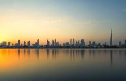 Primeras visiónes desde la tapa del Burj Khalifa fotos de archivo libres de regalías