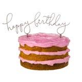 Primero de la torta de cumpleaños foto de archivo