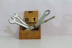 Primero de mayo del día de los trabajadores del Día del Trabajo Imagen de archivo libre de regalías