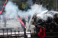 Primero de mayo en Estambul Foto de archivo