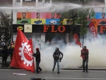 Primero de mayo en Estambul, Turquía. Imagen de archivo
