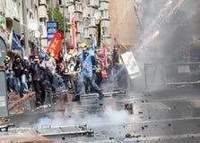 Primero de mayo en Estambul, Turquía. Fotos de archivo